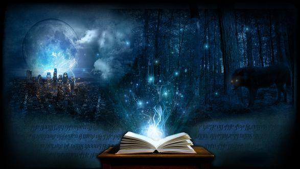 Обои Ожившие страницы мистической книги