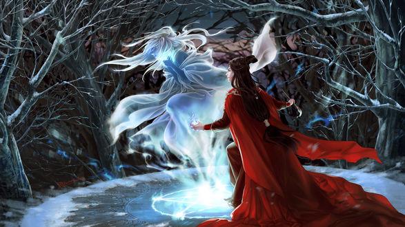 Обои Маг запечатывает дух девушки, by dtjun