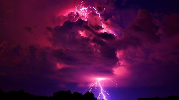 Обои Драматические силы природы - грозовое небо