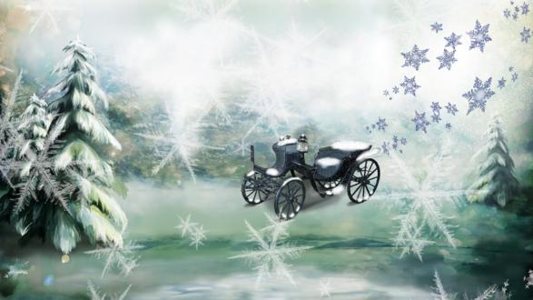 Обои Волшебный зимний лес