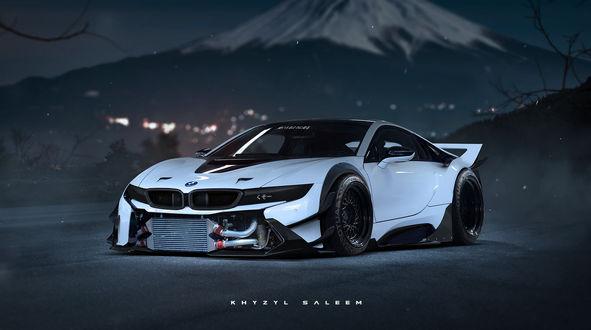 Обои Тюнинг будущего | белая BMW I8