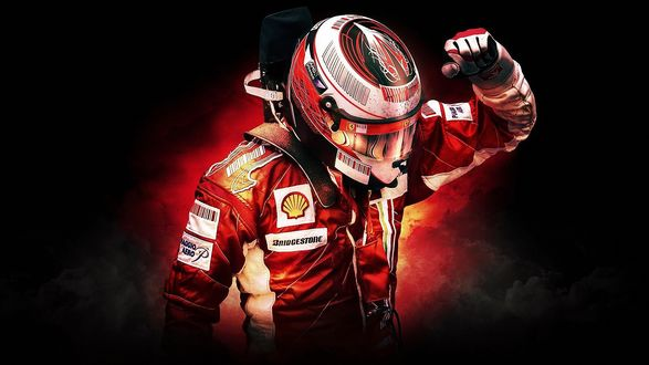 Обои Гонщик Формулы Kimi Raikonnen в отчаянии машет рукой