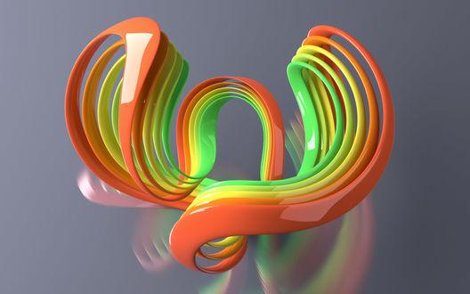 Обои Разноцветные абстрактные 3d завитки