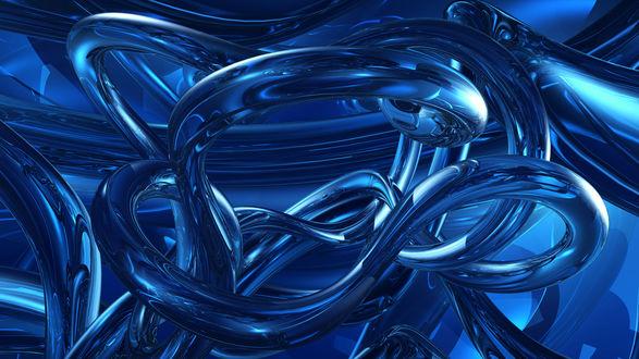 Обои Абстракция Синяя бесконечность