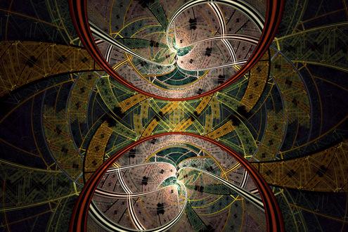 Обои The Dance of Immortals фрактальная абстракция от Xyrus02