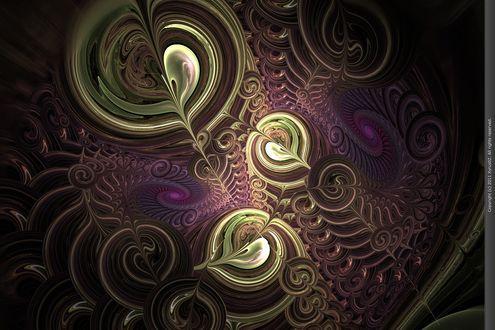 Обои Wrap, Twist, Bend, Curl фрактальная абстракция от Xyrus02