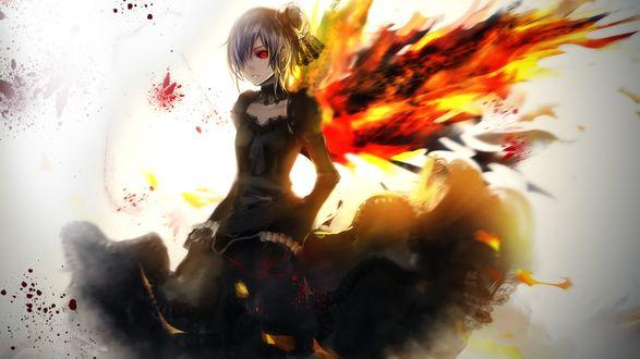 Обои Киришима Тока / Kirishima Touka из аниме Tokyo Ghoul / Токийский Гуль