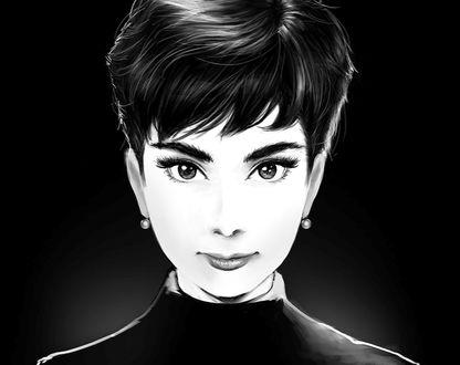 Обои Портрет Audrey Hepburn / Одри Хепберн, ву MeganeRid