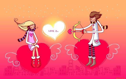 Обои Поздравление с Днем Влюбленных, Love is.(Любовь есть.)