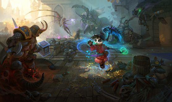 Обои Ли Ли Буйный Портер, героиня ролевой онлайн-игры Heroes of the Storm, в жанре MOBA