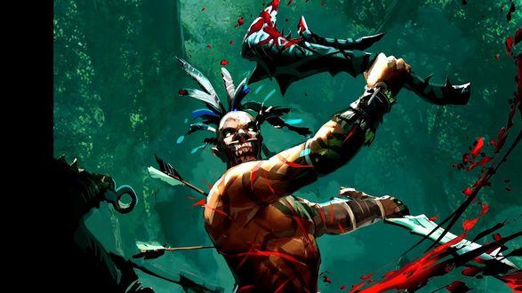 Обои Воин непокорных племен из игры Duel Of Champions