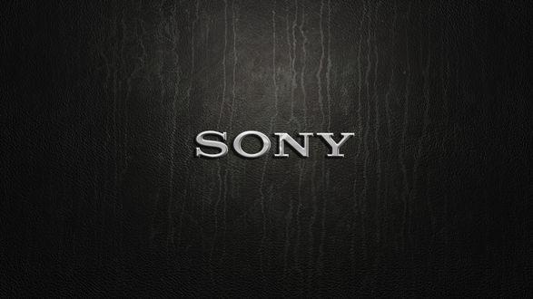 Обои Логотип компании Сони / Sony / на темном фоне