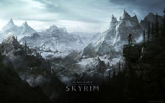 Обои Эпизод мультиплатформенной компьютерной ролевой игры The Elder Scrolls V: Skyrim (Древние свитки 5: Скайрим)