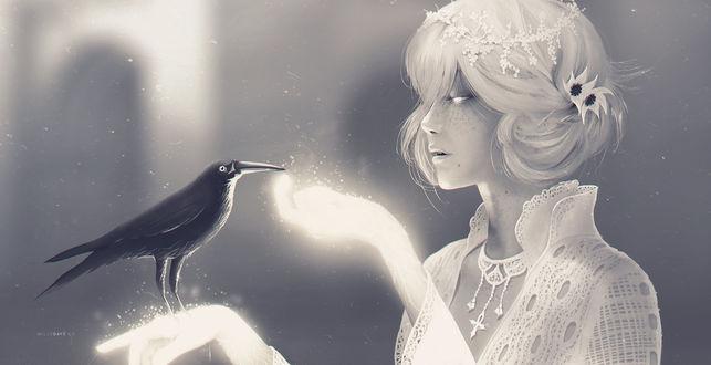 Обои Мистер Ворон и Мисс смерть, by Dchan