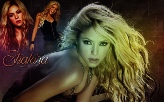 Обои Популярная исполнительница Шакира (Shakira), by Rosa Negra