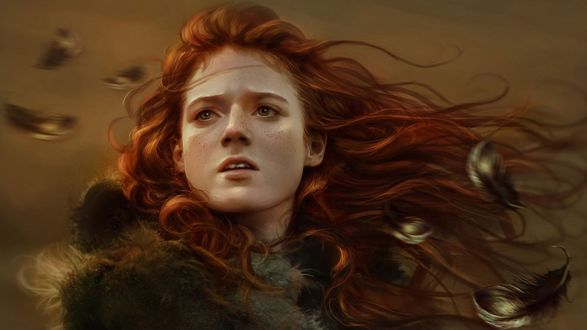 Обои Британская актриса Роуз Элеанор Арбетнот-Лесли / Rose Eleanor Arbuthnot-Leslie в образе Игритт из сериала Game of Thrones / Игра престолов