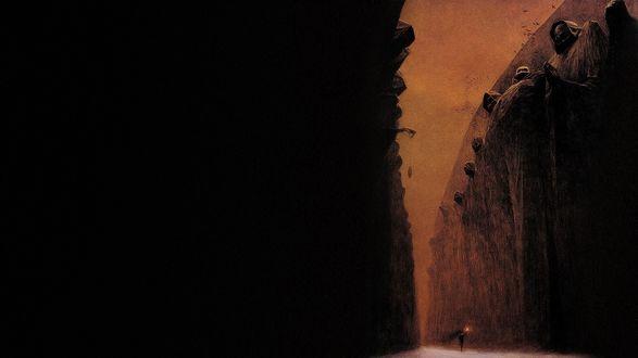 Обои Мрачный мир на картине Здзислава Бексиньского