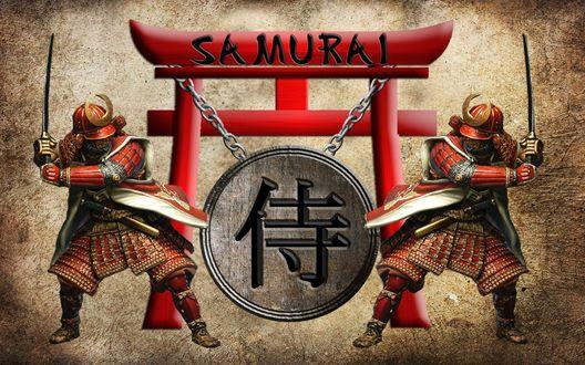 Обои Два самурая с мечами (Samurai)