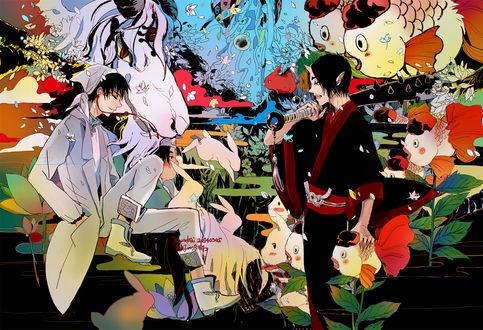 Обои Hakutaku / Хакутаку и Хозуки / Hoozuki из аниме Хладнокровный Хозуки / Hoozuki no Reitetsu