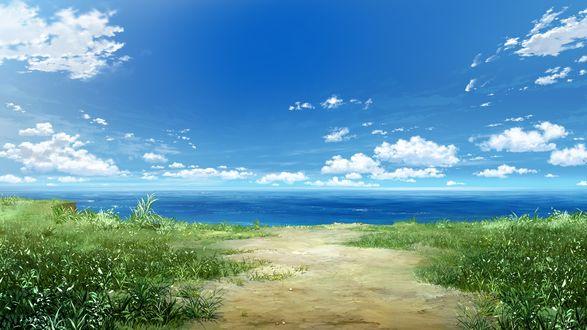 Обои Море в аниме Натюрморт в серых тонах