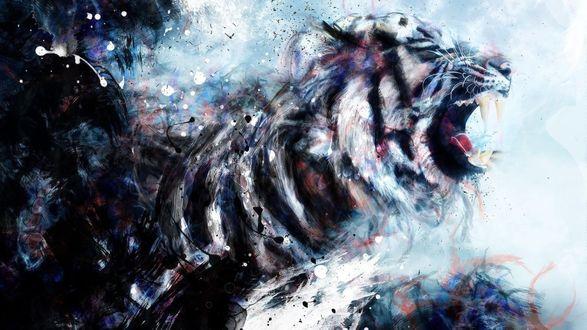 Обои Абстрактный рисунок амурского тигра