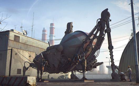 Обои Робот смеситель в виде насекомого