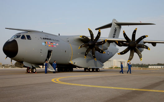 Обои Военно-транспортный самолет Airbus A400M Atlas