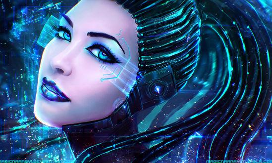 Обои Ангелика Кибер / Angelica Cyber - CyberA (OC), by MagicnaAnavi