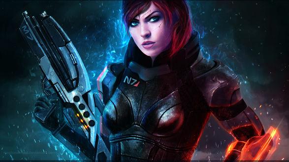 Обои Коммандор Шепард / Commander Shepard из игры Масс Эффект / Mass Effect, by MagicnaAnavi