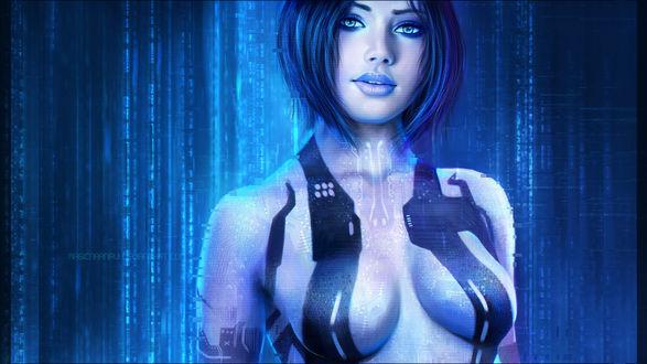 Обои Cortana / Кортана — вымышленный искусственный интеллект, персонаж серии игр Halo, by MagicnaAnavi