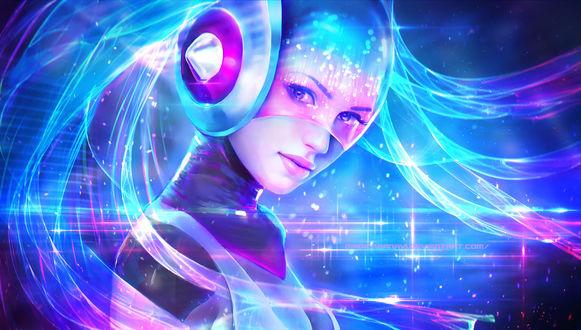 Обои DJ Sona Ethereal / Эфирная Диджей Сона из игры Лига Легенд / League of Legends, by MagicnaAnavi