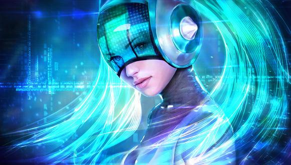 Обои DJ Sona Kinetic / Кинетическая Диджей Сона из игры Лига Легенд / League of Legends, by MagicnaAnavi