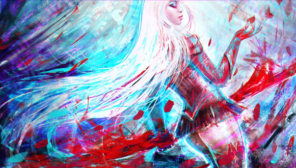 Обои Heartseeker Ashe / Эш из игры Лига Легенд / League of Legends, by MagicnaAnavi