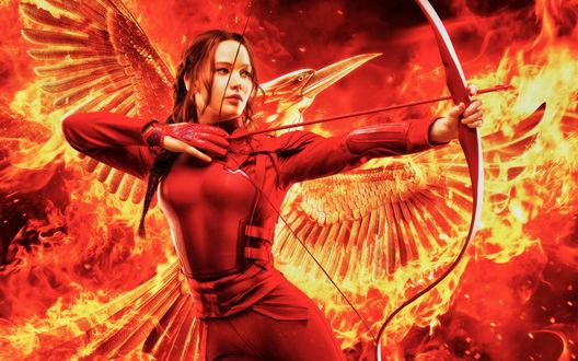 Обои Актриса Дженнифер Лоуренс / Jennifer Lawrence из фильма Голодные игры / The Hunger Games