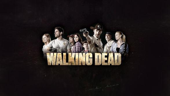 Обои Постер к сериалу The walking dead / Ходячие мертвецы с главными героями