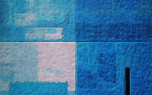 Обои Синяя стена разных оттенков