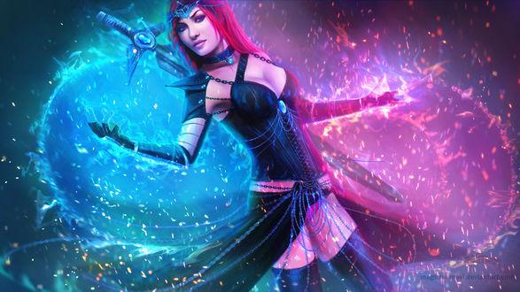 Обои Serina Spiritweaver / Серина Спиритвевер из игры Подземелья и Драконы / Dungeons & Dragons / D&D / DnD, by MagicnaAnavi