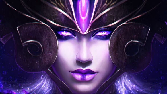 Обои Синдра / Syndra - the Dark Sovereign из игры Лига Легенд / League of Legends, by MagicnaAnavi