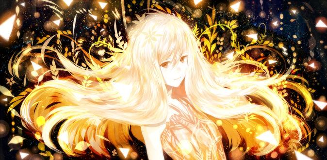 Обои Девушка с золотыми волосами, by bounin
