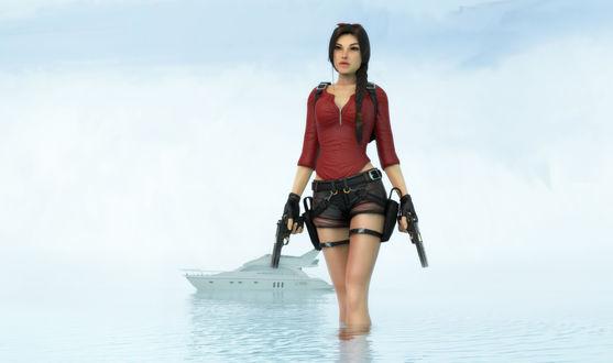 Обои Лара Крофт / Lara Croft из игры Tomb Raider / Расхитительница гробниц, by Shyngyskhan