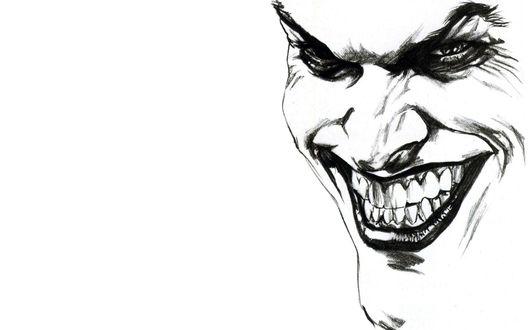 Обои Нарисованный портрет Джокера / Joker, DC Comics