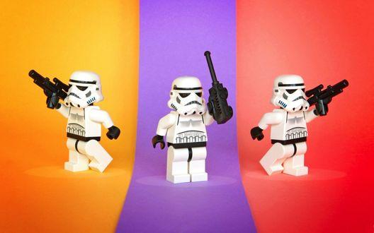 Обои Лего / Lego фигурки клонов, из фильма Star Wars / Звездные войны