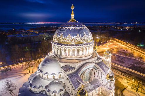 Обои Морской Никольский собор в Кронштадте, Санкт-Петербург
