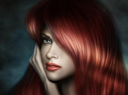 Обои Девушка с каштановыми волосами, by AlenaEkaterinburg