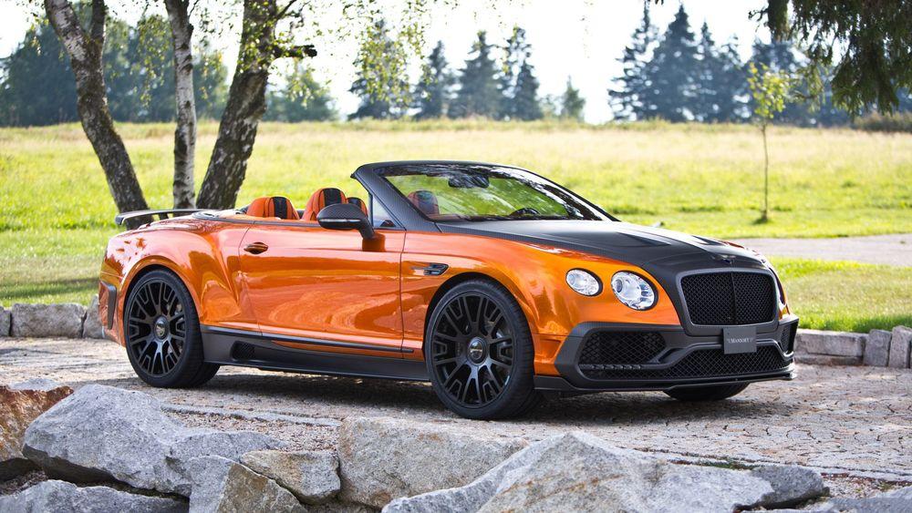 Обои для рабочего стола Bentley Continental GT Speed Convertible, 2016года