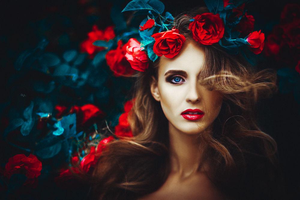 Фото девушка с розами