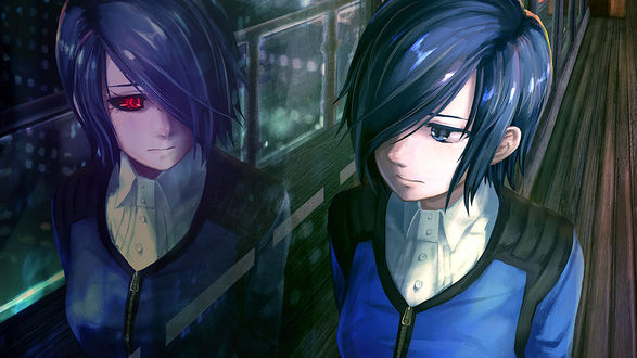 Обои Touka Kirishima / Тока Кирисима из аниме Tokyo Ghoul / Токийский Гуль