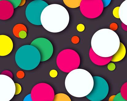 Обои Цветные круги на темном фоне