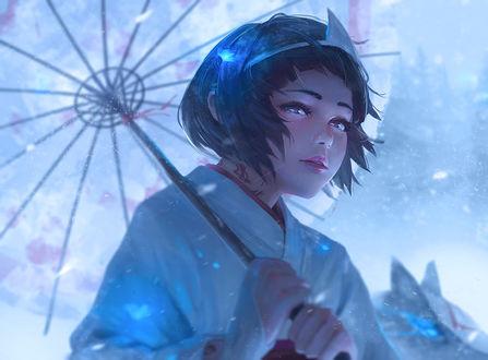 Обои Nora / Нора из аниме Noragami / Бездомный Бог, by guweiz