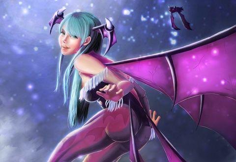 Обои Morrigan Aensland из игры Vampire Darkstalkers